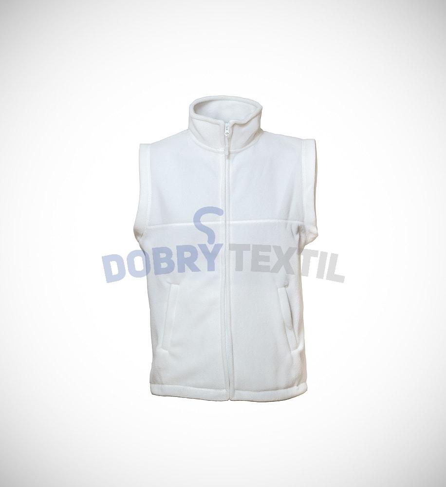 Fleecová vesta - Bílá | XXXL