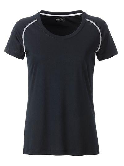 Dámské funkční tričko JN495 - Černá / bílá | L