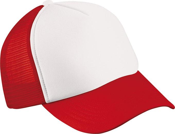 5 panelová kšiltovka MB070 - Bílá / červená | uni