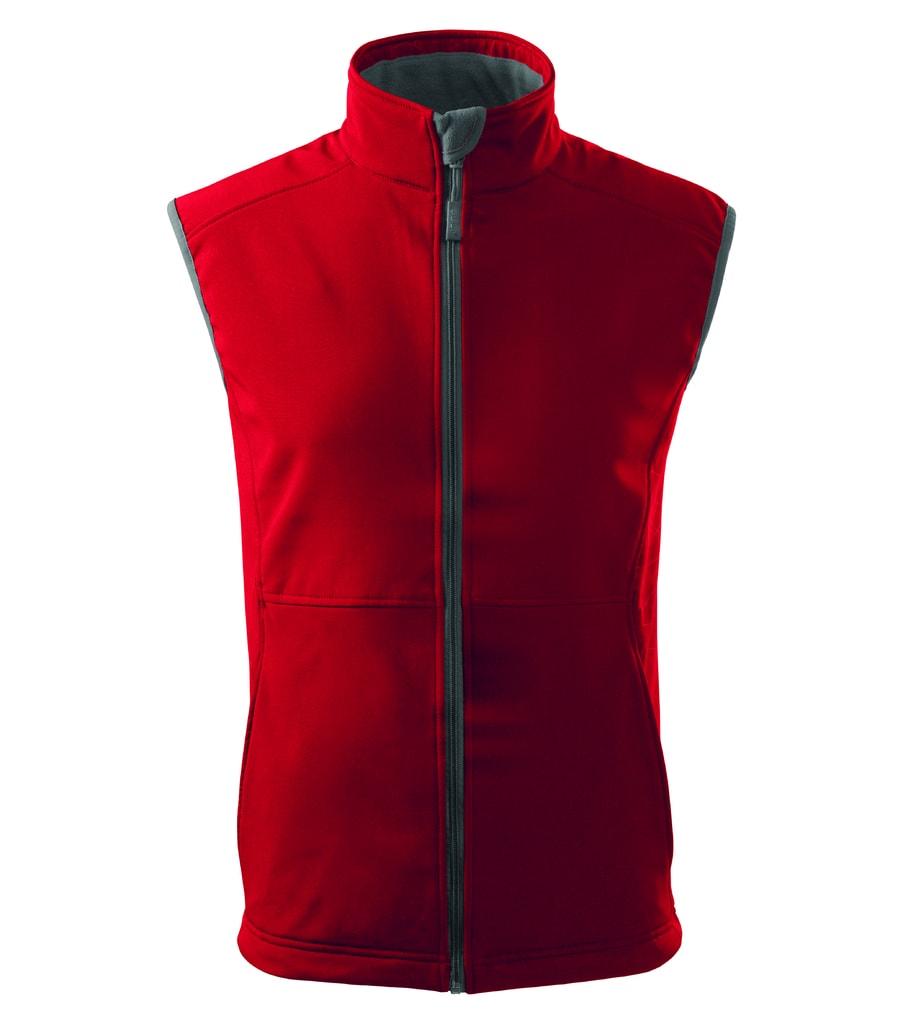 Pánská softshellová vesta Vision - Červená | XXXL