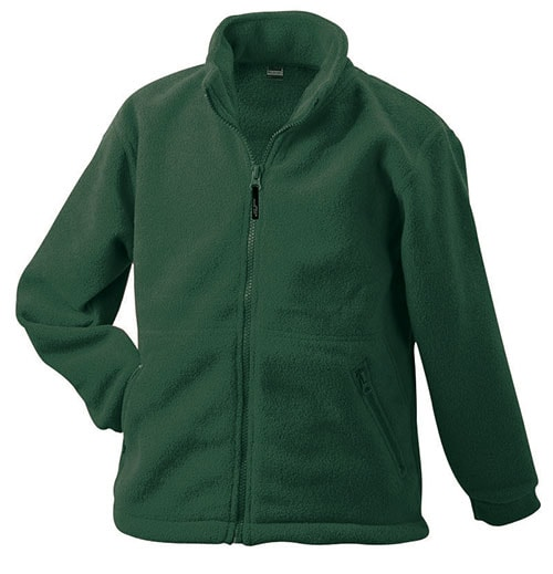 Dětská fleece mikina JN044k - Tmavě zelená | M