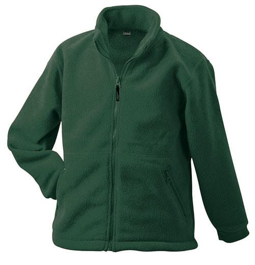 Dětská fleece mikina JN044k - Tmavě zelená | XL