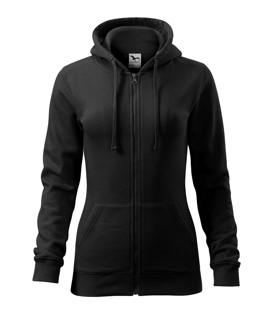 Dámská mikina s kapucí Trendy - Černá | XXL