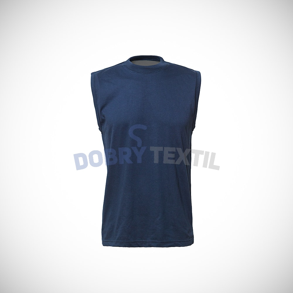 Pánské tričko bez rukávů - Tmavě modrá | M