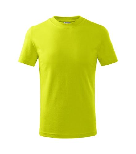 Dětské tričko Basic Adler - Limetková | 158 (12 let)