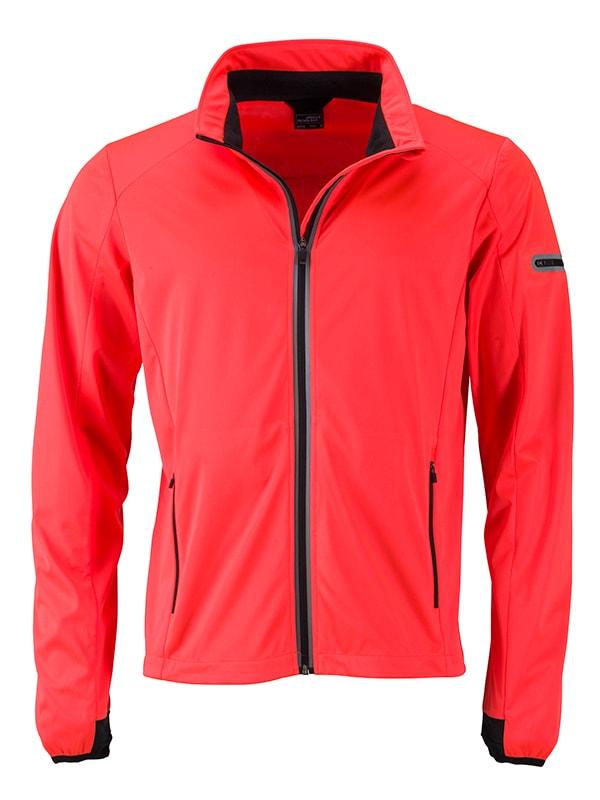 Pánská sportovní softshellová bunda JN1126 - Jasně oranžová / černá | L
