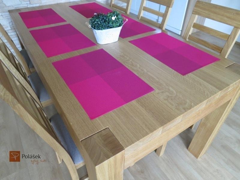 Prostírání PVC kostkované - Růžová | 30 x 45 cm
