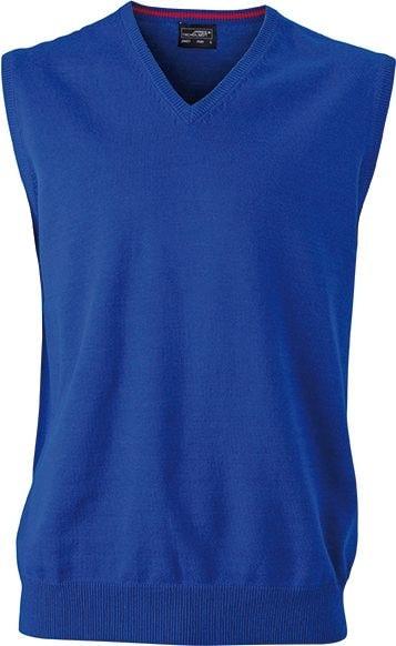 Pánský svetr bez rukávů JN657 - Královská modrá | S
