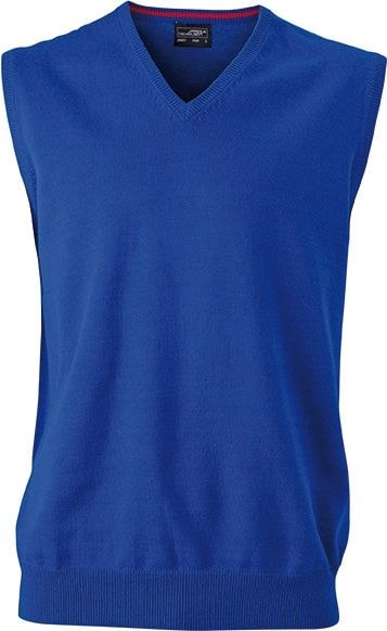 Pánský svetr bez rukávů JN657 - Královská modrá | XXL