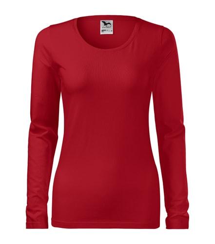 Dámské tričko s dlouhým rukávem Slim Adler - Červená | XS