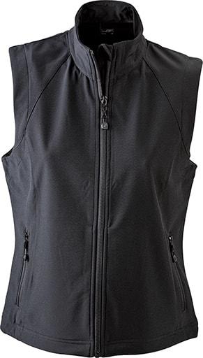 Dámská softshellová vesta JN1023 - Černá   L