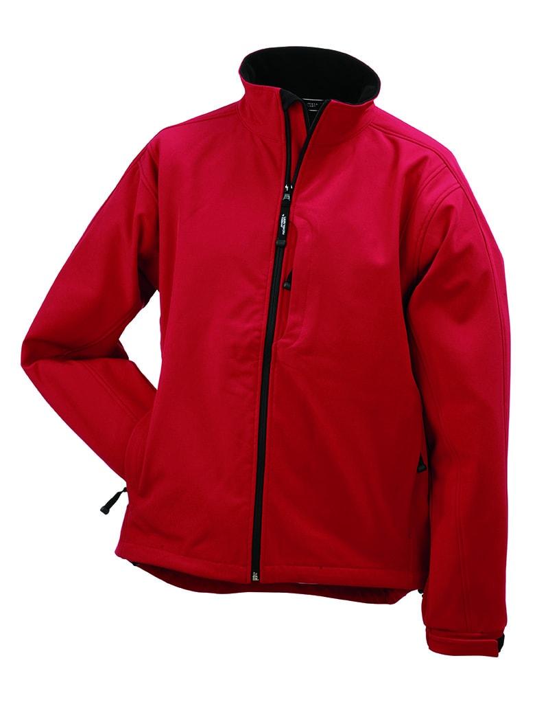 Pánská softshellová bunda JN135 - Červená | XXXL