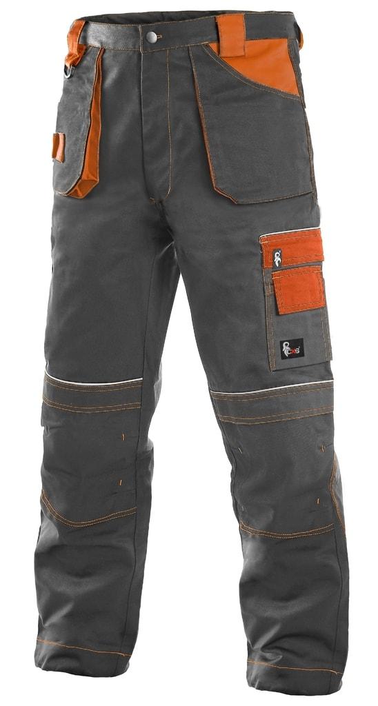 Montérkové kalhoty ORION TEODOR - Šedá / oranžová | 56