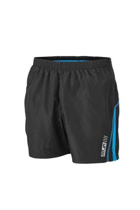 Pánské běžecké šortky JN488 - Černá / atlantik | S