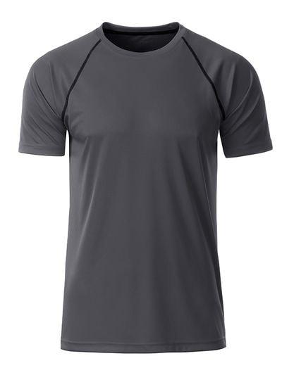 James & Nicholson Pánske funkčné tričko JN496 - Titanově černá   XXL