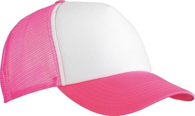 5 panelová kšiltovka MB070 - Bílá / neonově růžová | uni