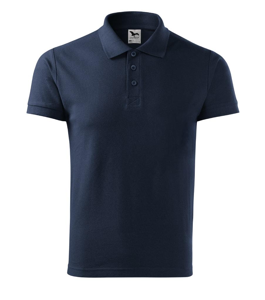 Pánská polokošile Cotton - Námořní modrá   M
