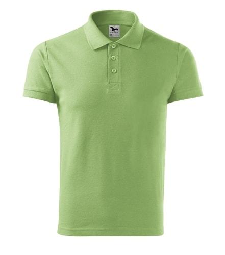 Pánská polokošile Cotton - Trávově zelená | M