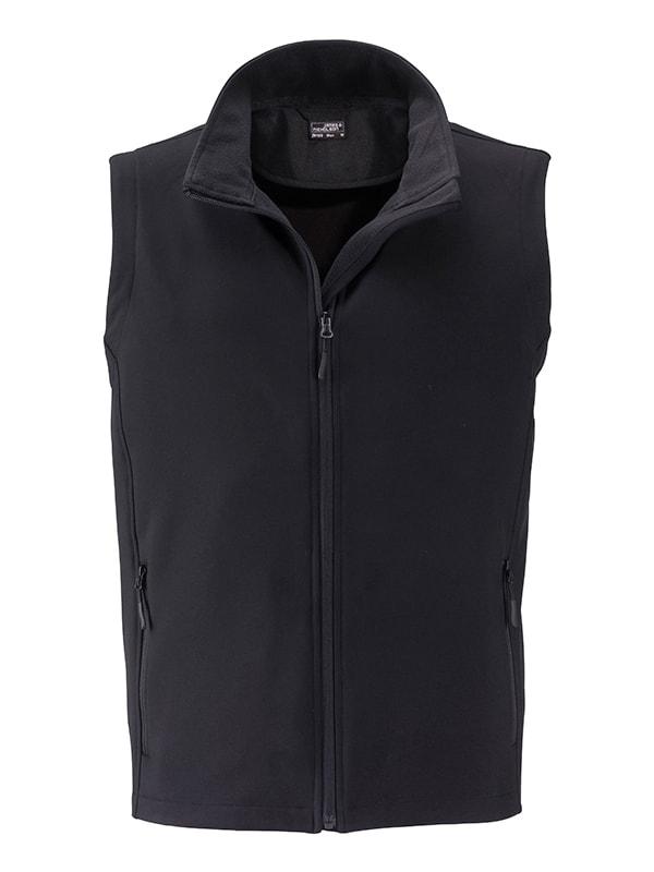 Pánská softshellová vesta JN1128 - Černá / černá | XXXL
