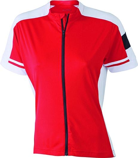 Dámský cyklistický dres JN453 - Červená | XL