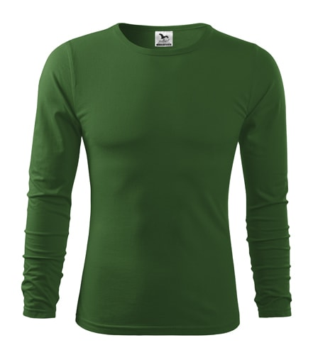 Pánské tričko s dlouhým rukávem Fit-T Long Sleeve - Lahvově zelená | M