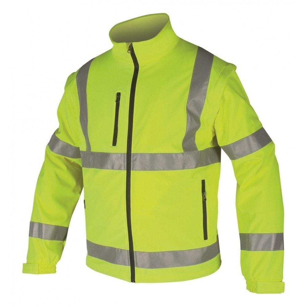 Reflexní softshellová bunda - Žlutá | M