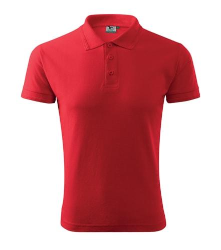 Pánská polokošile Pique Polo - Červená   L