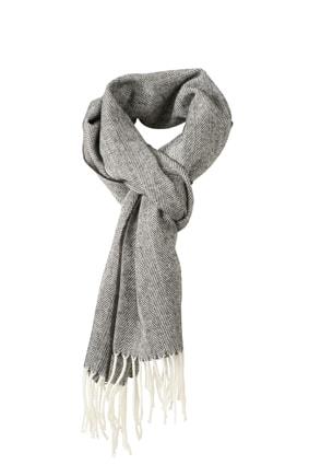 Elegantní tkaná šála MB7974 - Antracit | 180 x 130 cm