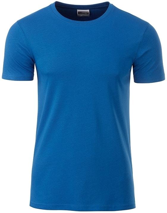 Klasické pánské tričko z biobavlny 8008 - Královská modrá | M