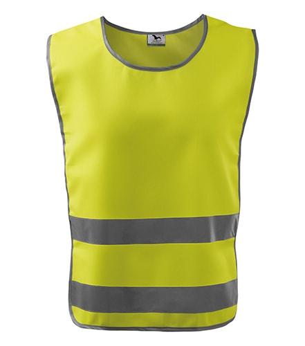 Bezpečnostní vesta Classic Safety Vest - Reflexní žlutá | XXL