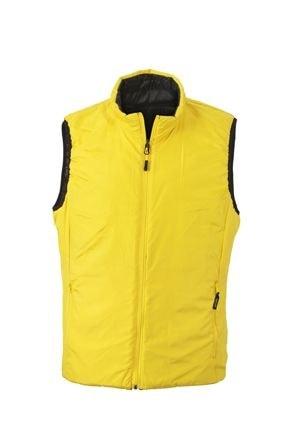 Lehká pánská oboustranná vesta JN1090 - Černá / žlutá | XXXL