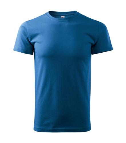 Pánské tričko Basic Adler - Azurově modrá | M