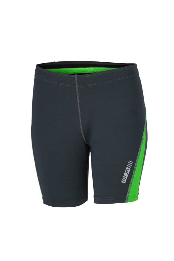 James & Nicholson Dámske bežecké šortky JN477 - Ocelově šedá / zelená | M