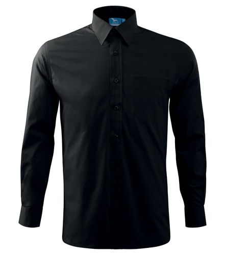 Pánská košile s dlouhým rukávem Adler - Černá   L