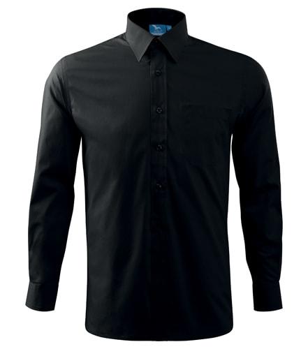 Pánská košile s dlouhým rukávem Adler - Černá   M