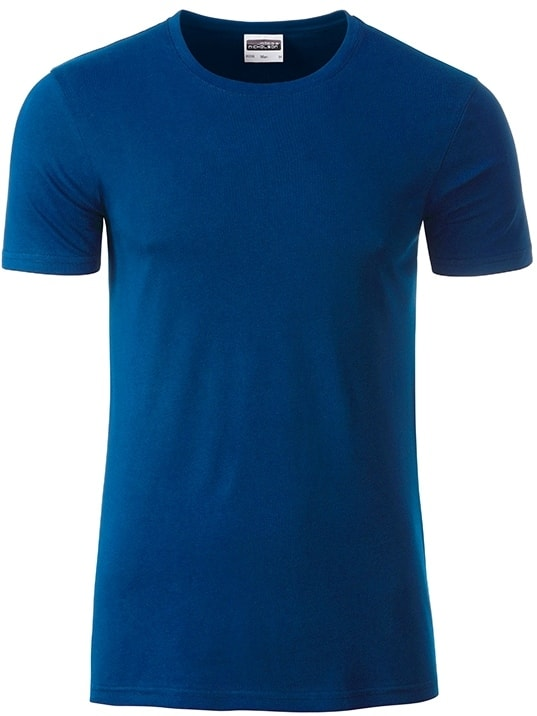 Klasické pánské tričko z biobavlny 8008 - Tmavá královská modrá | M