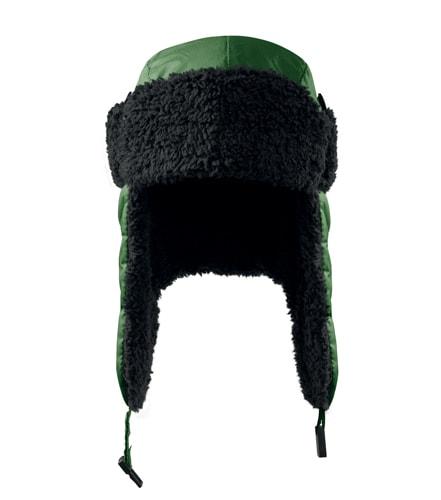 Čepice s ušima Furry - Lahvově zelená | L