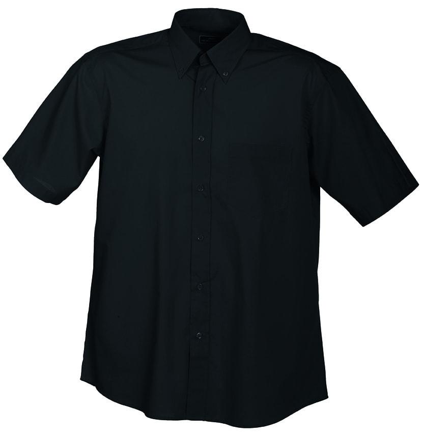 Pánská košile s krátkým rukávem JN601 - Černá | XXXL