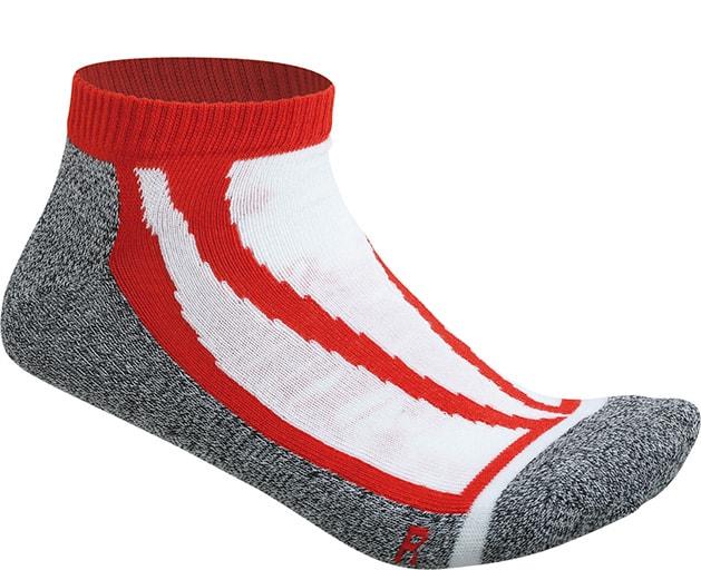 Sportovní ponožky nízké JN209 - Červená | 45-47