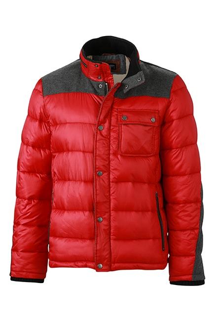 James & Nicholson Pánska zimná bunda JN1100 - Indická červená | XL