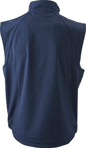 Pánská softshellová vesta JN1022 - Tmavě modrá   L