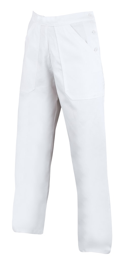 Dámské bílé pracovní kalhoty - 52