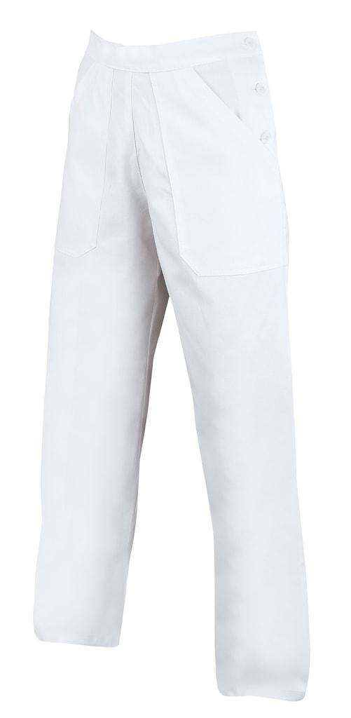 Dámské bílé pracovní kalhoty - 56