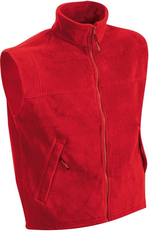 Pánská fleecová vesta JN045 - Červená | XXXL