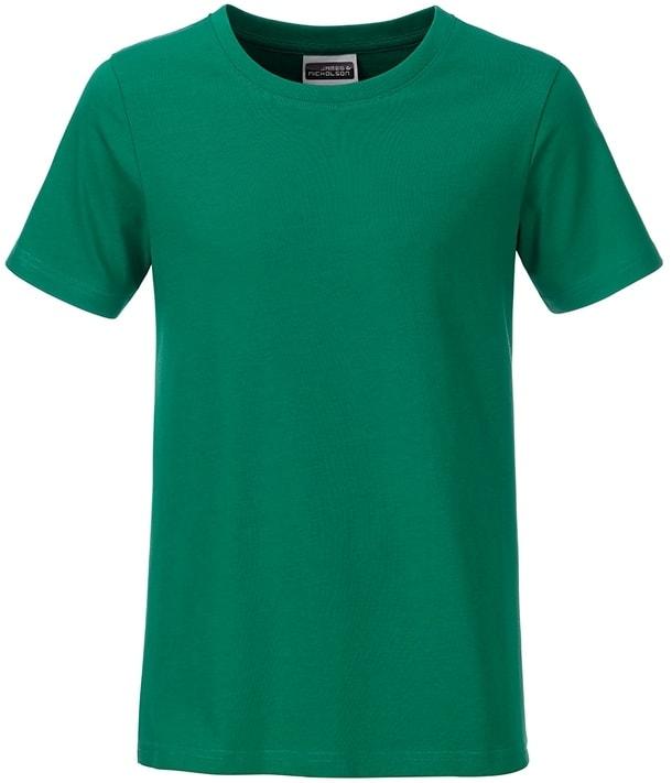 Klasické chlapecké tričko z biobavlny 8008B - Irská zelená | M
