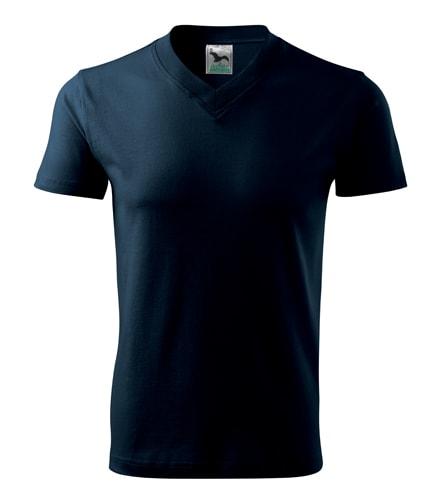 Pánské tričko V-neck Adler - Námořní modrá | XL
