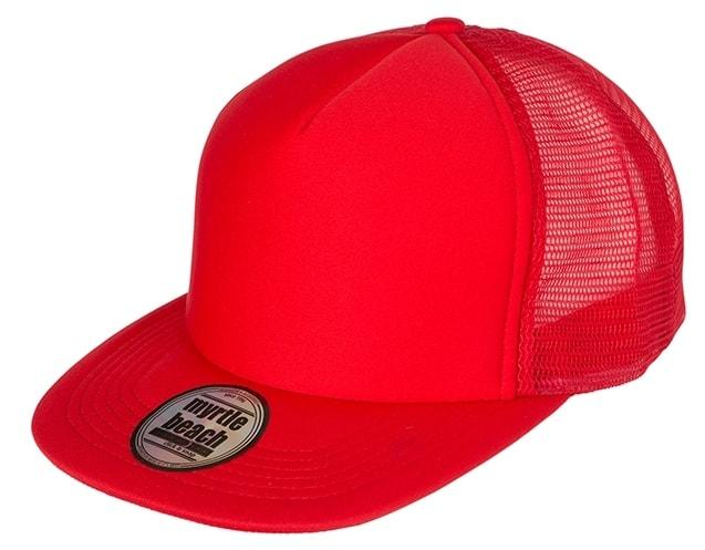 Kšiltovka trucker s rovným kšiltem MB6207 - Červená / červená
