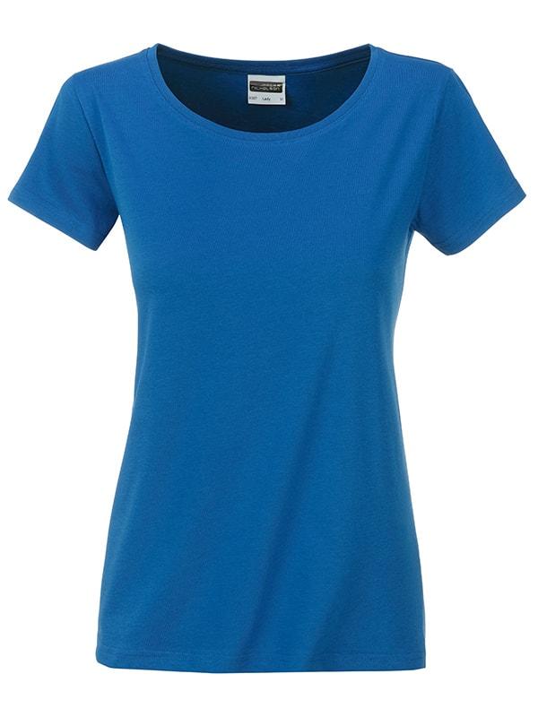 Klasické dámské tričko z biobavlny 8007 - Královská modrá | M