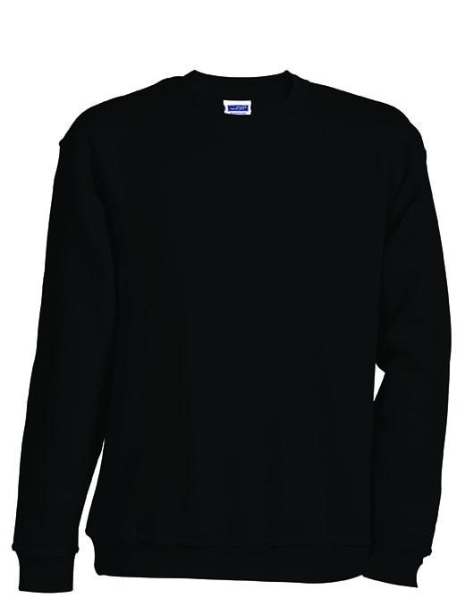 Dětská mikina bez kapuce JN040k - Černá | XS