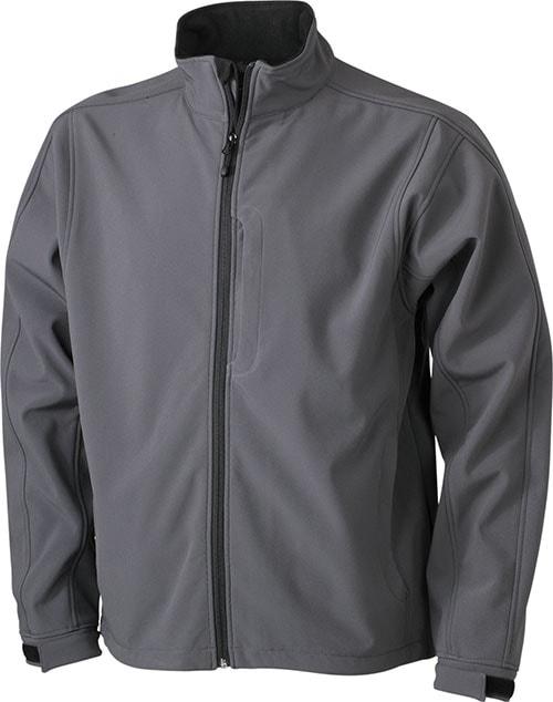 Pánská softshellová bunda JN135 - Tmavě šedá | L